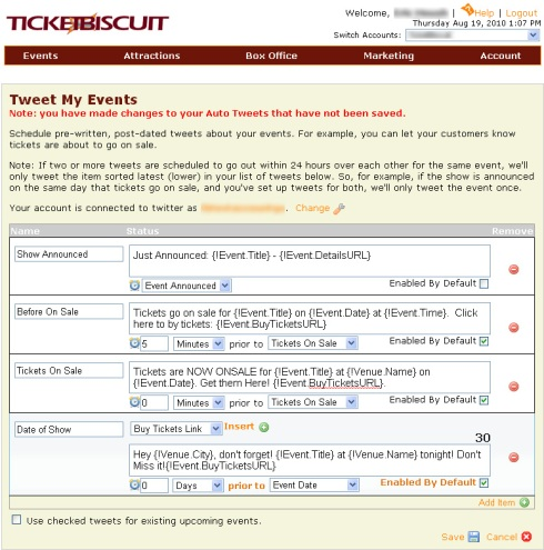 TicketBiscuit's Twitter App